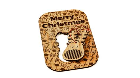 Laser Cut Christmas Cards with Pop Out Ornaments