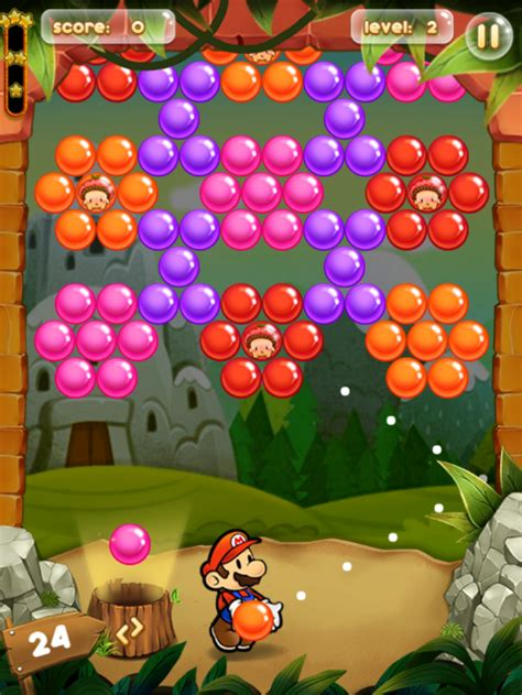 Play game Mario bubble pop - Free online bubble games