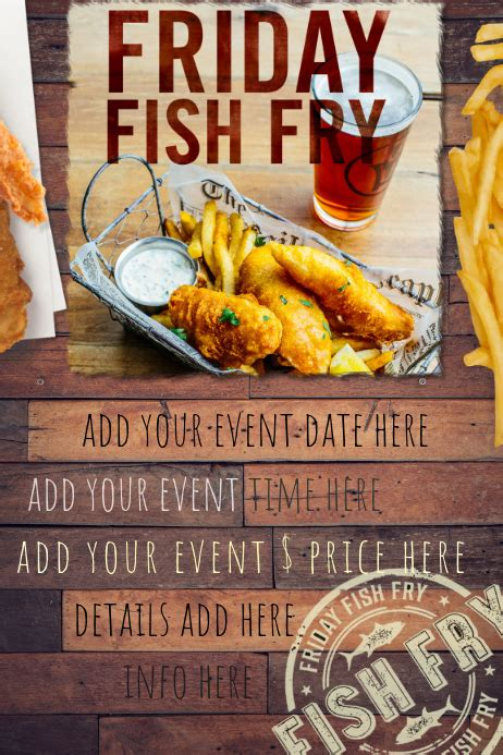 Copy of Fish Fry Food Restaurant Special Seafood Party