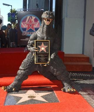 Godzilla gets a star on the Hollywood Walk of Fame, 2004