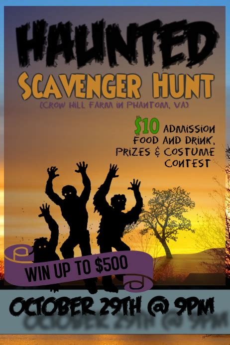 Copy of Scavenger Hunt flyer   PosterMyWall