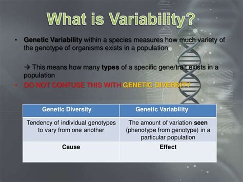 4 Genetics - How variability is produced in a population