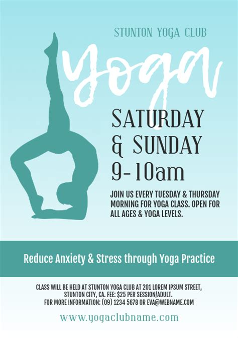 Copy of Yoga Class Flyer   PosterMyWall