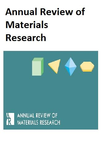 (New) The Annual Review of Materials Research 2020 - Open