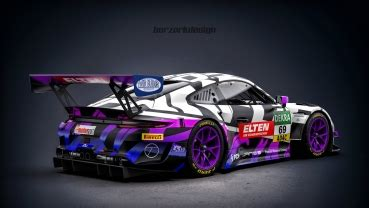 Decal Porsche 911 991 GT3 R Team Iron Force by Ring Police