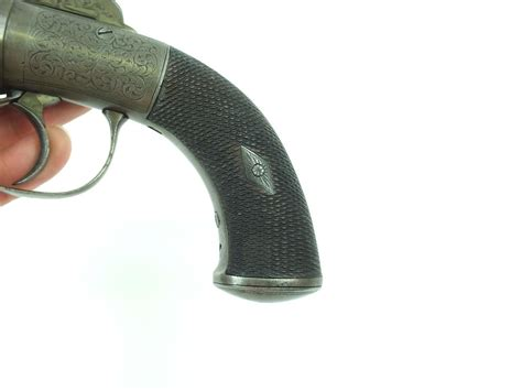 A large 54-bore percussion transitional revolver by
