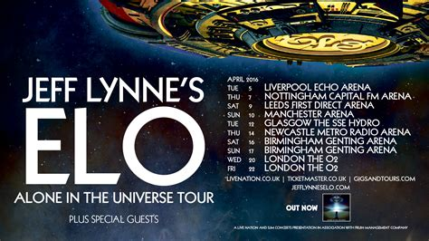 It's official, Jeff Lynne's ELO to tour in April 2016!