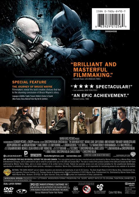 Full Press Release for The Dark Knight Rises on Blu-ray