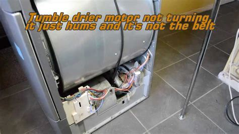Tumble dryer drum not turning and belt ok, faulty start