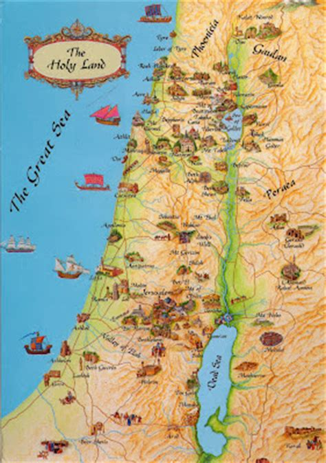WORLD, COME TO MY HOME!: 0315 ISRAEL - The map of the Holy