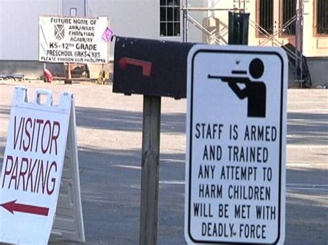 Arkansas School Posts Warning Signs That 'Staff Is Armed